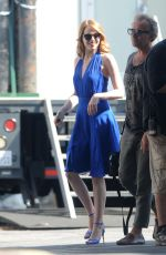 Emma Stone On Set Of