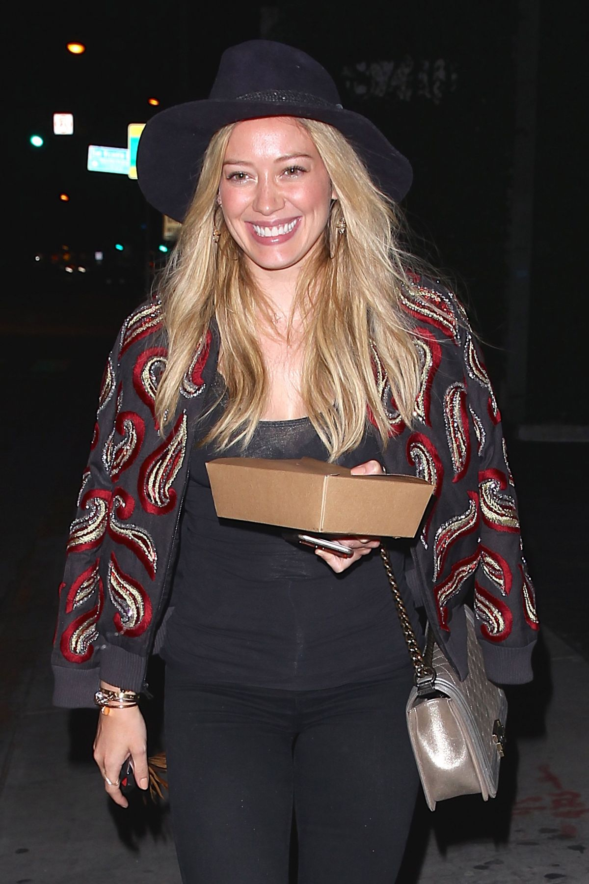 Hilary Duff Leaving Zinque French Restaurant