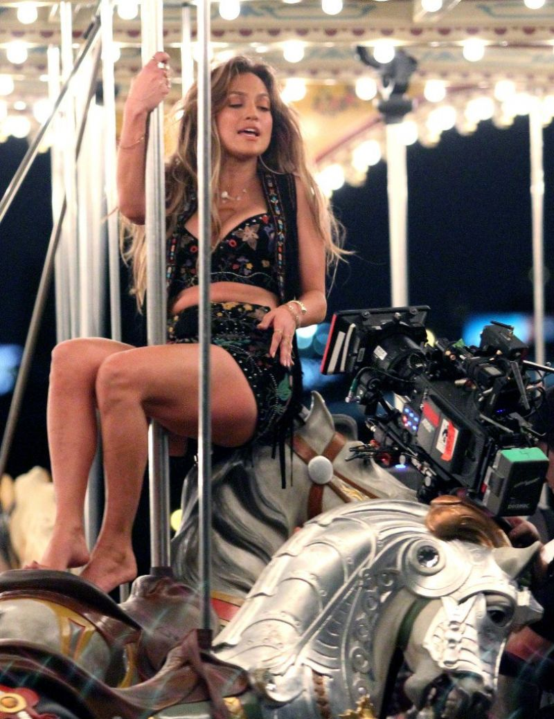 Jennifer Lopez In Hot Outfits Filming New Music Video For