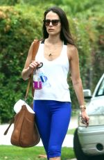 Jordana Brewster Heading To A Gym For A Workout In West Hollywood