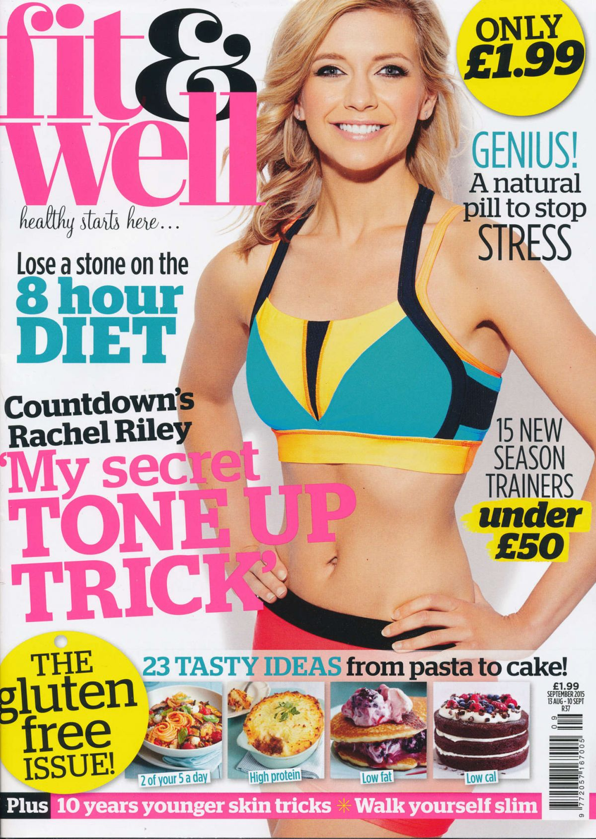 Rachel Riley In Fit and Well Magazine September 2015