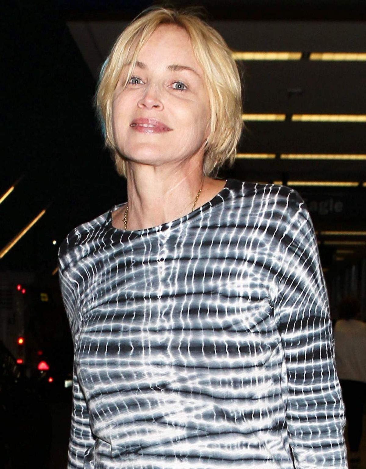 Sharon Stone Arrives At LAX Airport