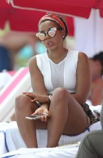 Angela Simmons Wearing A Bikini At Miami Beach