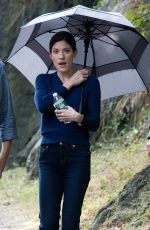 Jennifer Carpenter On The Set For The Upcoming CBS Series