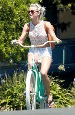 Julianne Hough Wearing A Bikini While Riding A Bike In Manhattan Beach