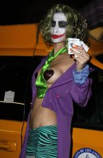 Bai Ling Dressed As The Joker On Hollywood Boulevard