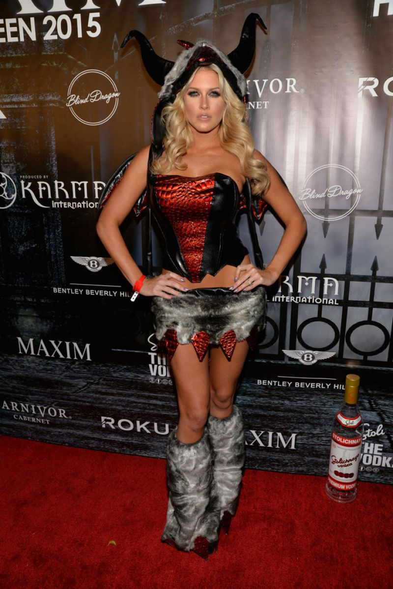 Barbie Blank (Kelly Kelly) At The Official MAXIM Halloween Party ...