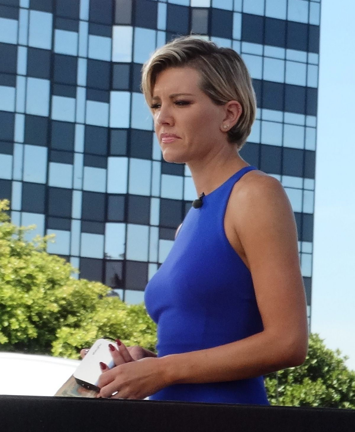 Charissa Thompson On The Set Of Extra