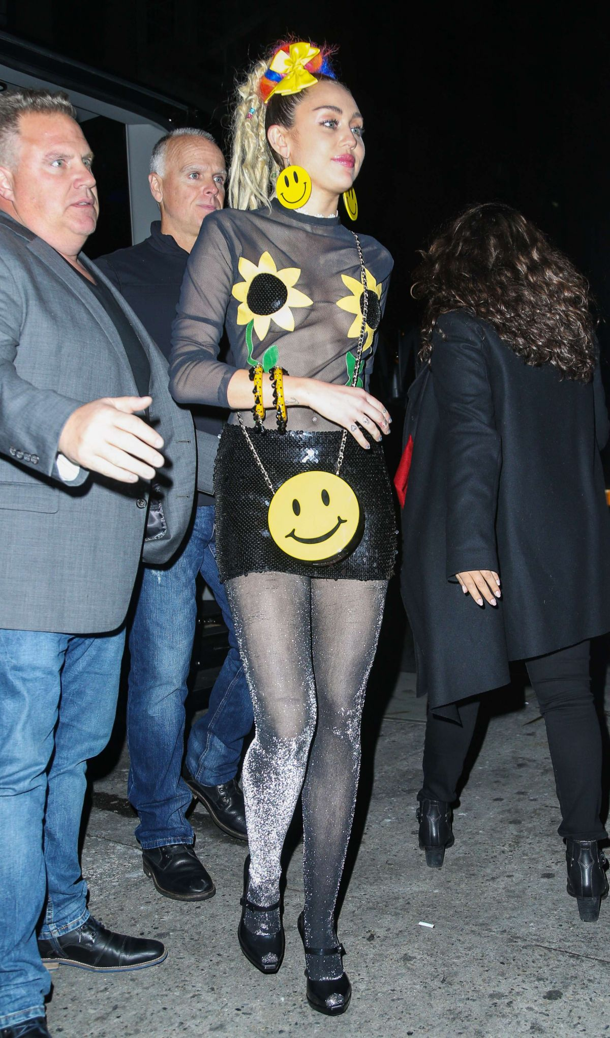 Miley Cyrus Arriving At Snl Afterparty In New York City