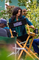 Morena Baccarin On The Set Of