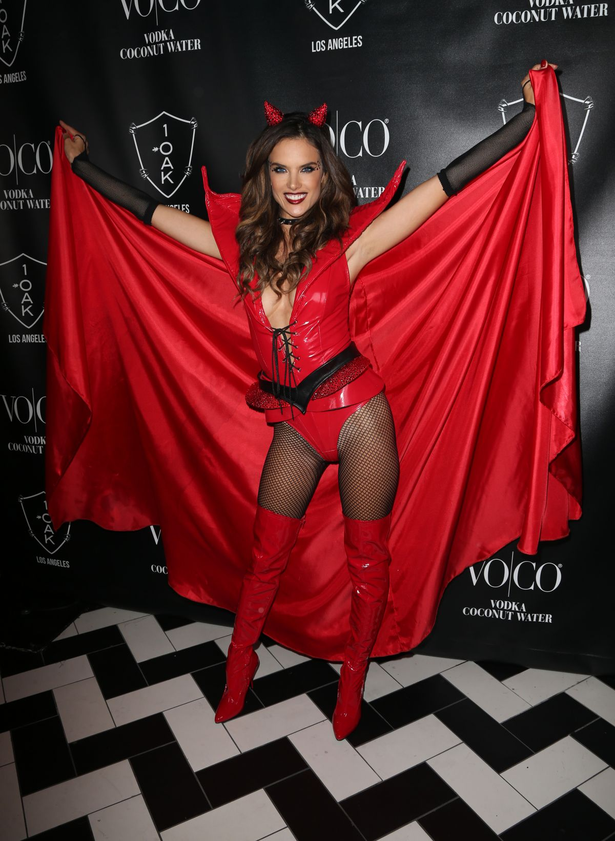 Alessandra Ambrosio At Heaven and Hell Halloween Party - Celebzz ...