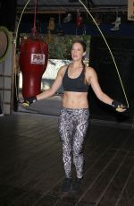 Amanda Righetti Boxing To Keep In Shape In Santa Monica
