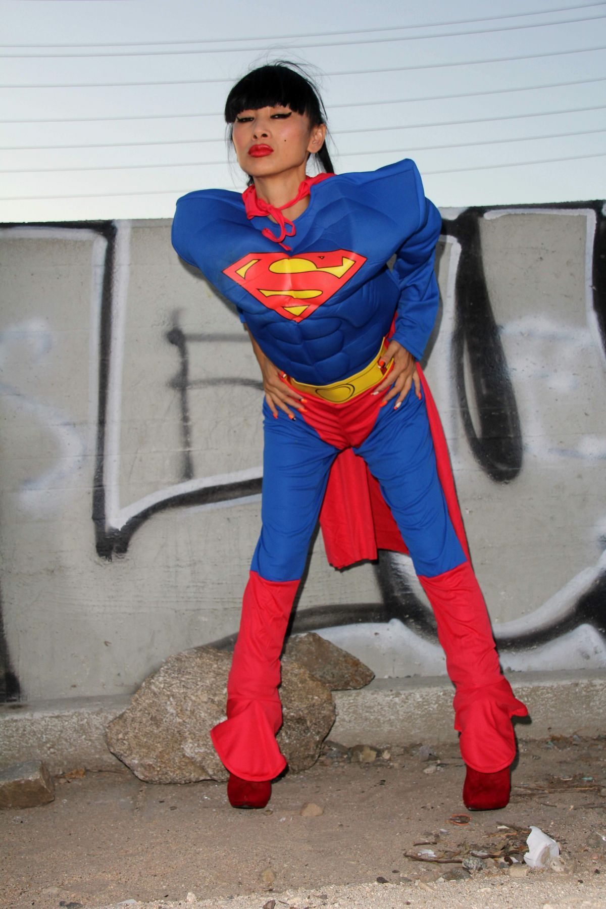 Bai Ling Posing In A Superman Costume For Halloween  sc 1 st  Celebzz & Bai Ling Posing In A Superman Costume For Halloween - Celebzz