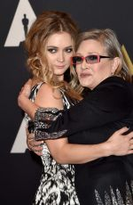 Carrie Fisher And Billie Lourd At Academy of Motion Picture Arts and Sciences
