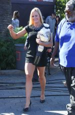 Holly Holm Takes Her UFC Championship Belt To Extra