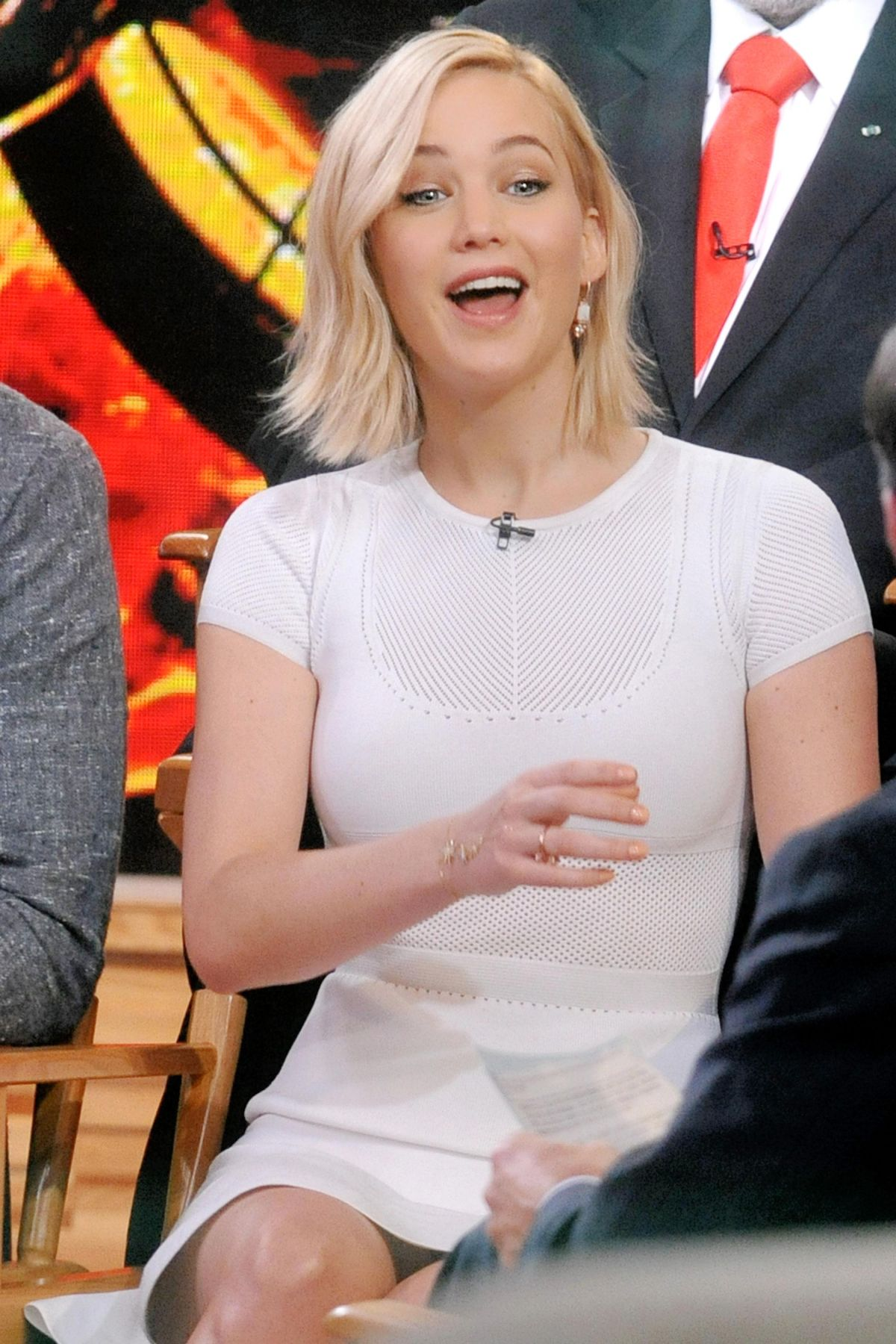 Good Morning America Nyc : Jennifer lawrence at good morning america in nyc