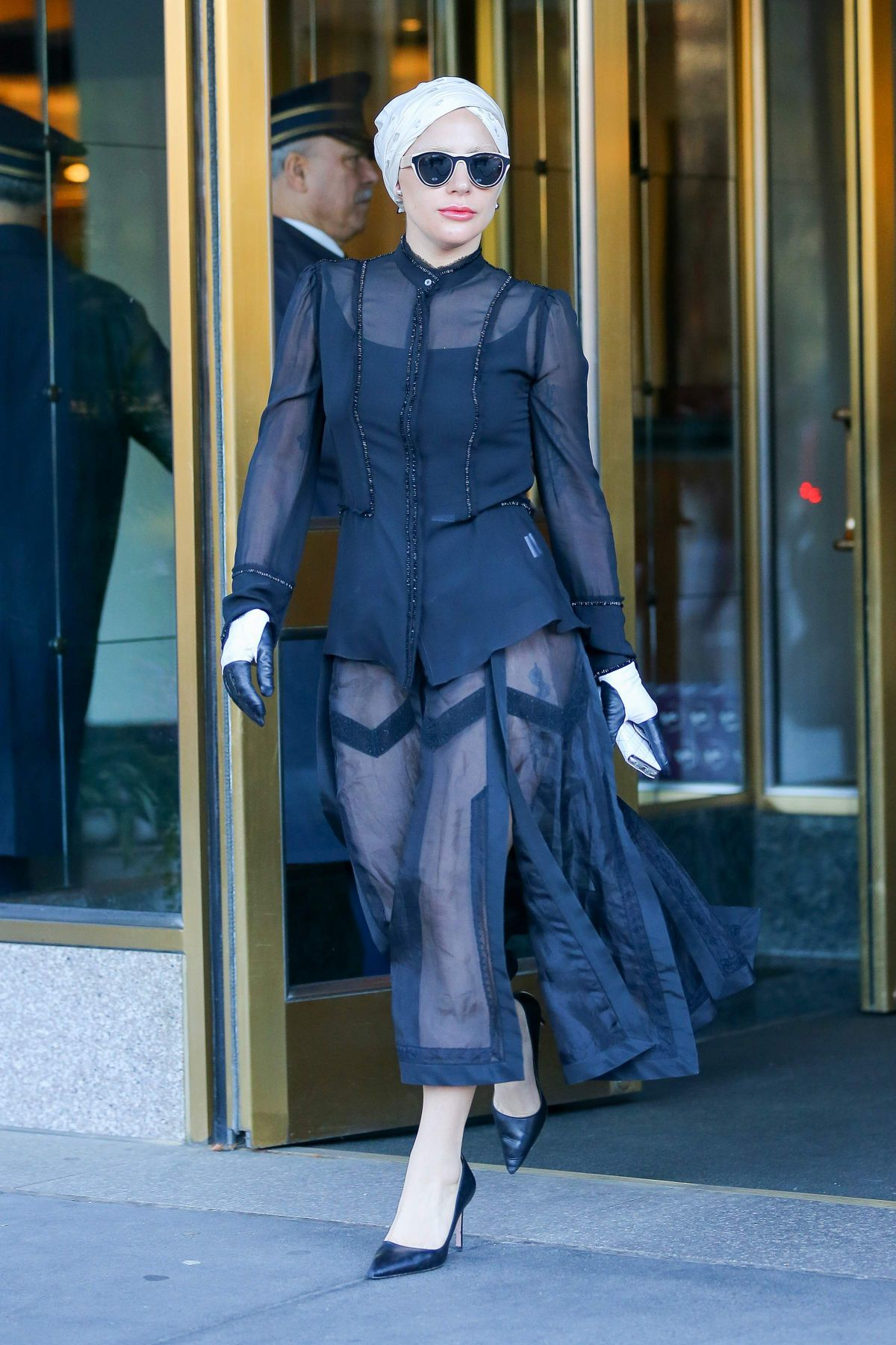 Lady Gaga Leaving Her Apartment Building In New York City