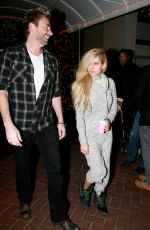 Avril Lavigne Leaving The Sunset Marquis In West Hollywood