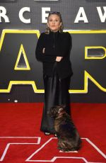 Carrie Fisher At European Premiere Of