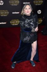 "Carrie Fisher At The World Premiere Of ""Star Wars: The Force Awakens"" At The TCL Chinese Theatre"