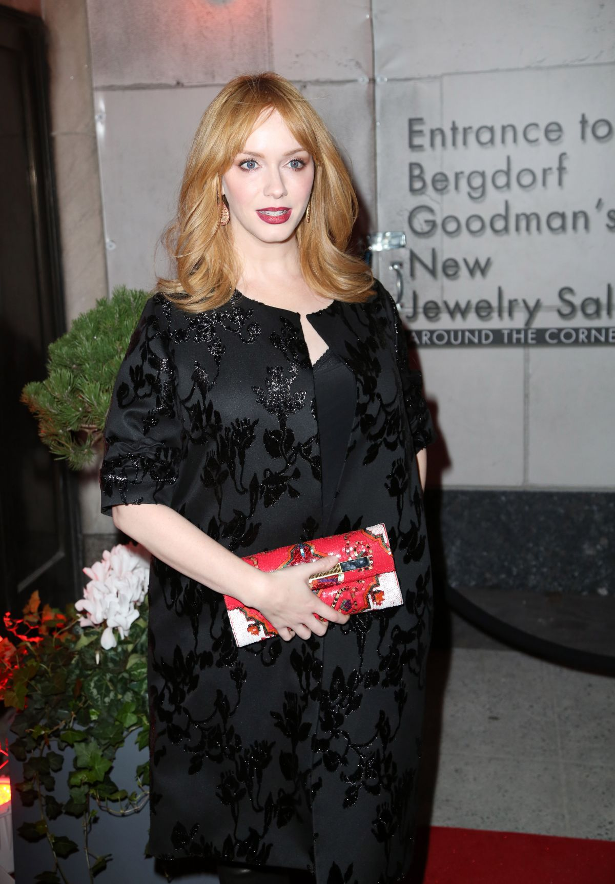 Christina hendricks at the bergdorf goodman x gemfields - Bergdorf goodman salon ...