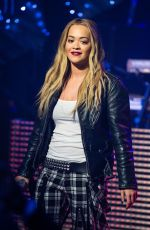 "Rita Ora At ""TFI Friday"" Broadcast In London"
