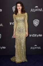 Alexandra Daddario At InStyle And Warner Bros. Golden Globe Awards Post-Party
