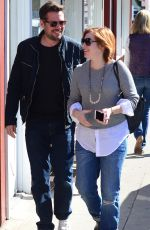 Alyson Hannigan Leaving Caffe Luxxe In Brentwood