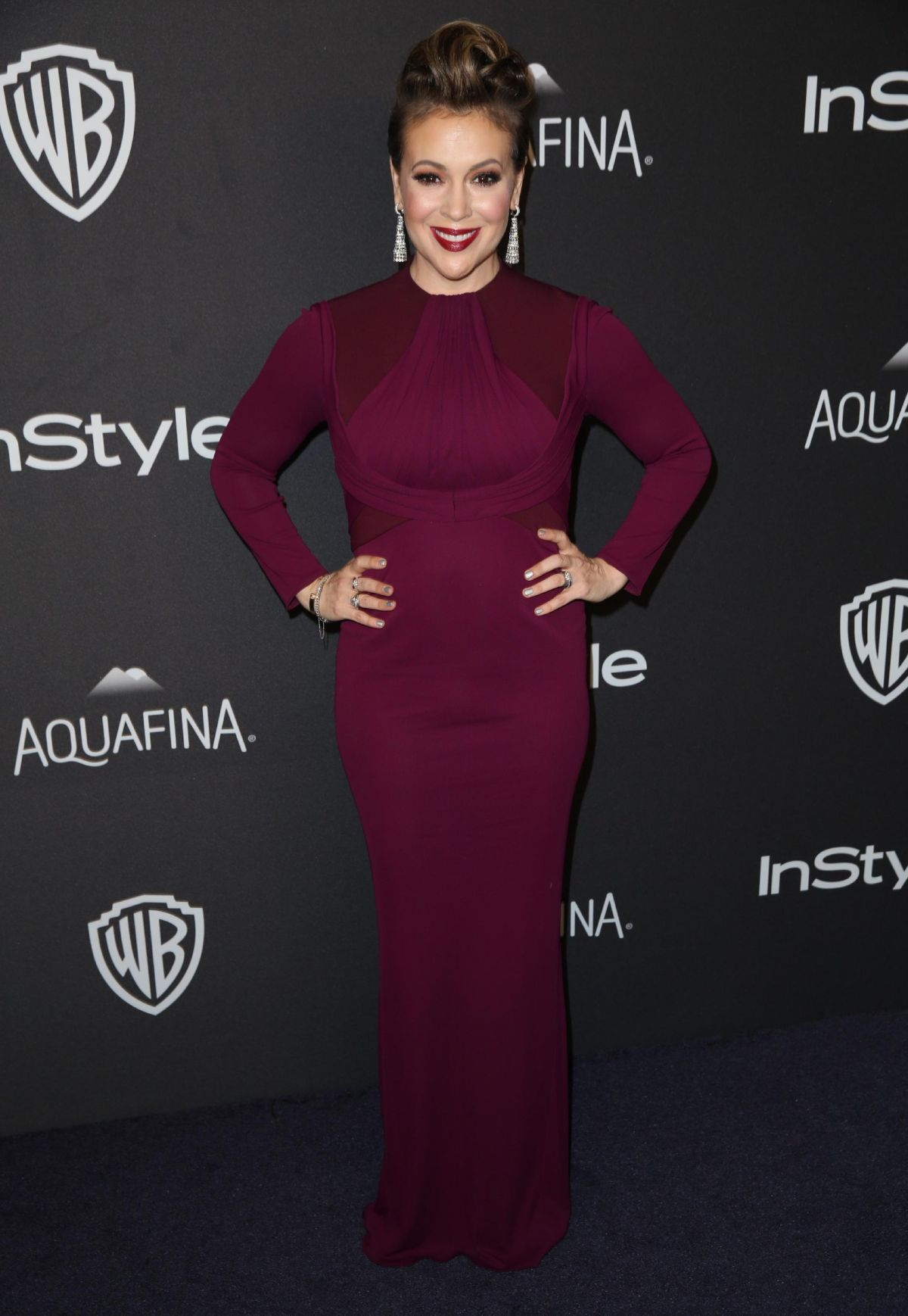 Alyssa Milano At InStyle and Warner Bros. 73rd Annual Golden Globe Awards Post-Party