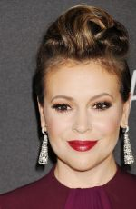 Alyssa Milano At The Weinstein Company and Netflix Golden Globe Party