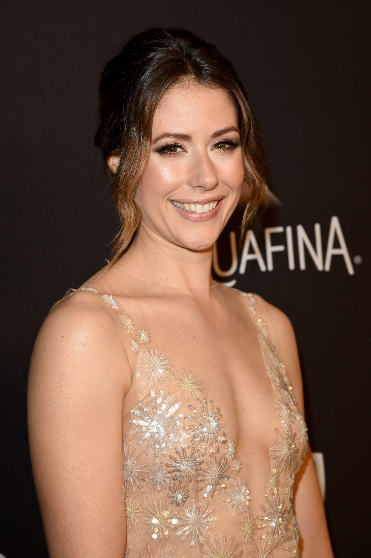Amanda Crew At InStyle And Warner Bros. Golden Globe Awards Post-Party