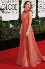Amber Heard At 73rd Annual Golden Globe Awards In Beverly Hills