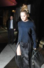 Ashley Tisdale At Craigs Restuarant In West Hollywood