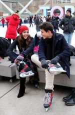 Bailee Madison Ice Skating At Nathan Phillips Square In Toronto