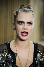 Cara Delevingne At Chanel Haute Couture Spring Summer 2016 Fashion Show In Paris