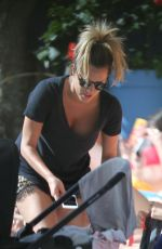Caroline Flack Relaxing At The Pool In Miami Beach