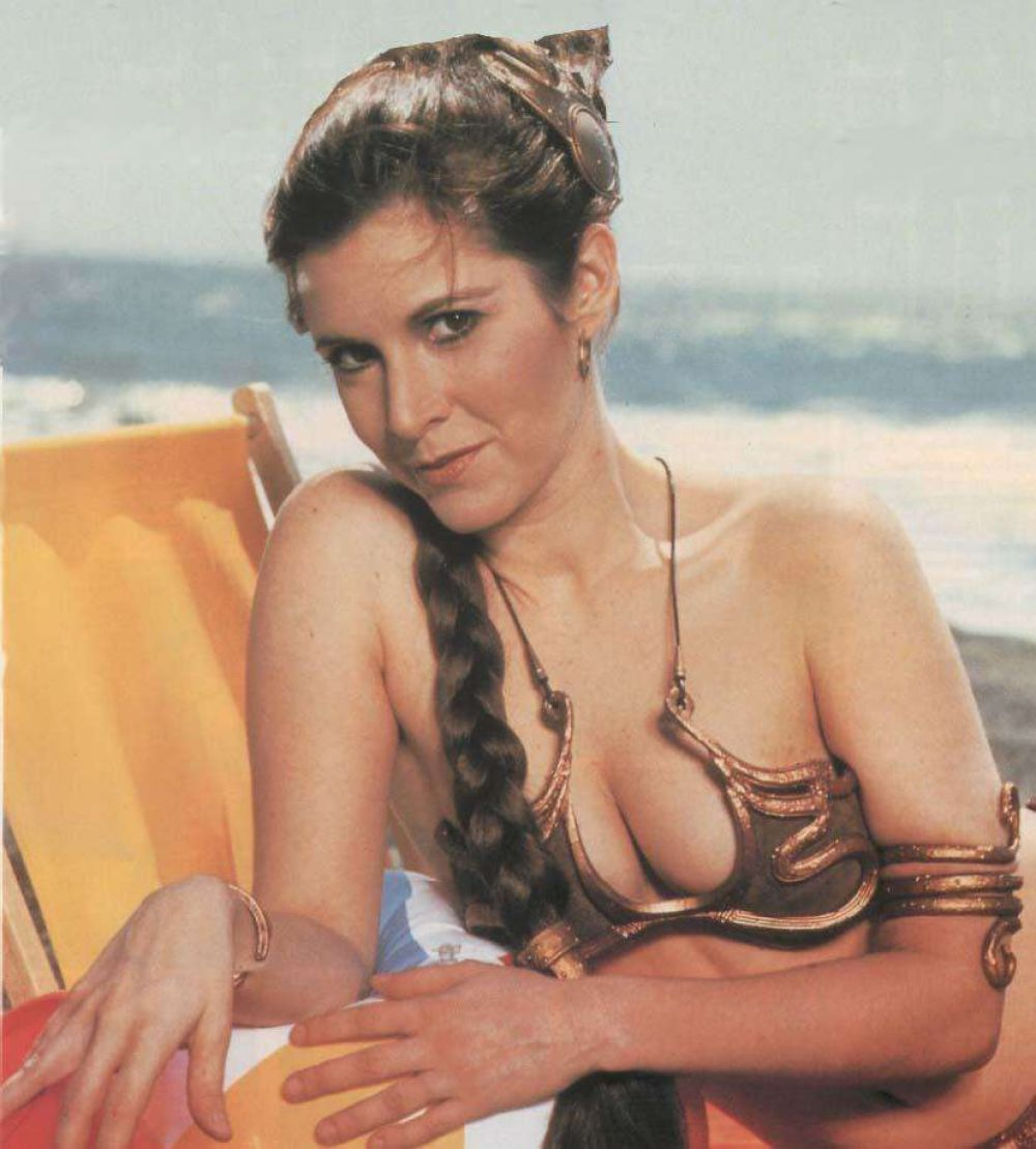 Carrie Fisher In Golden Bikini In Rolling Stone Magazine Summer 1983