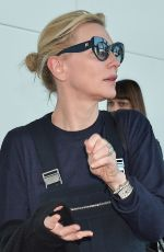 Cate Blanchett Seen Arriving At Tokyo International Airport