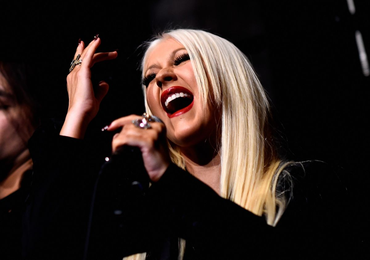 Christina Aguilera Attends The Linda Perry Celebration For The Song