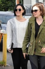 Demi Lovato & Lily Collins Out For Lunch In West Hollywood