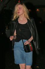 Elle Fanning Leaving The Chateau Marmont In West Hollywood