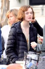 Elle Fanning On Set Of 'Live by Night' In Los Angeles