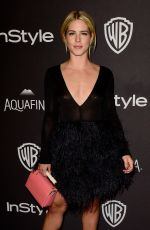 Emily Bett Rickards At InStyle And Warner Bros. Golden Globe Awards Post-Party