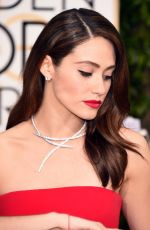 Emmy Rossum At 73rd Annual Golden Globe Awards In Beverly Hills