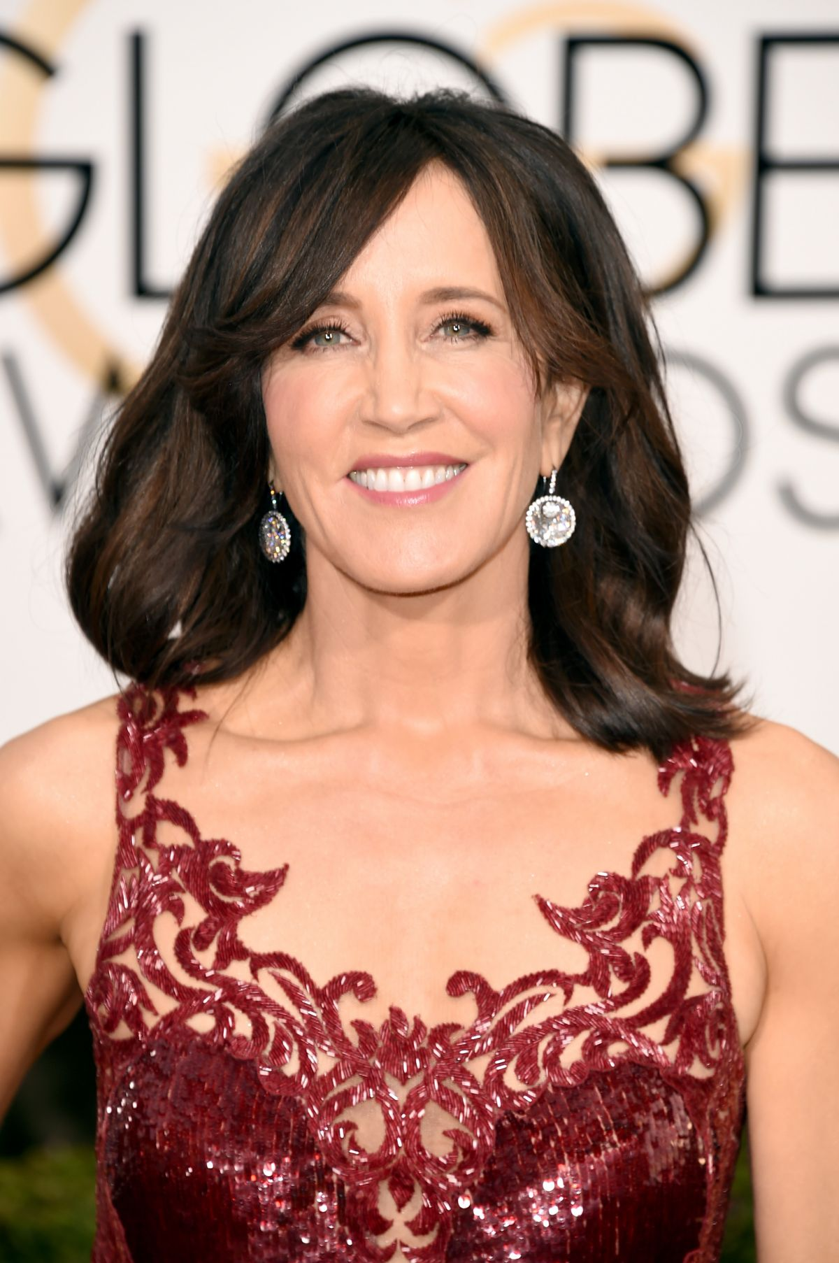 Felicity Huffman At 73rd Annual Golden Globe Awards In Beverly Hills