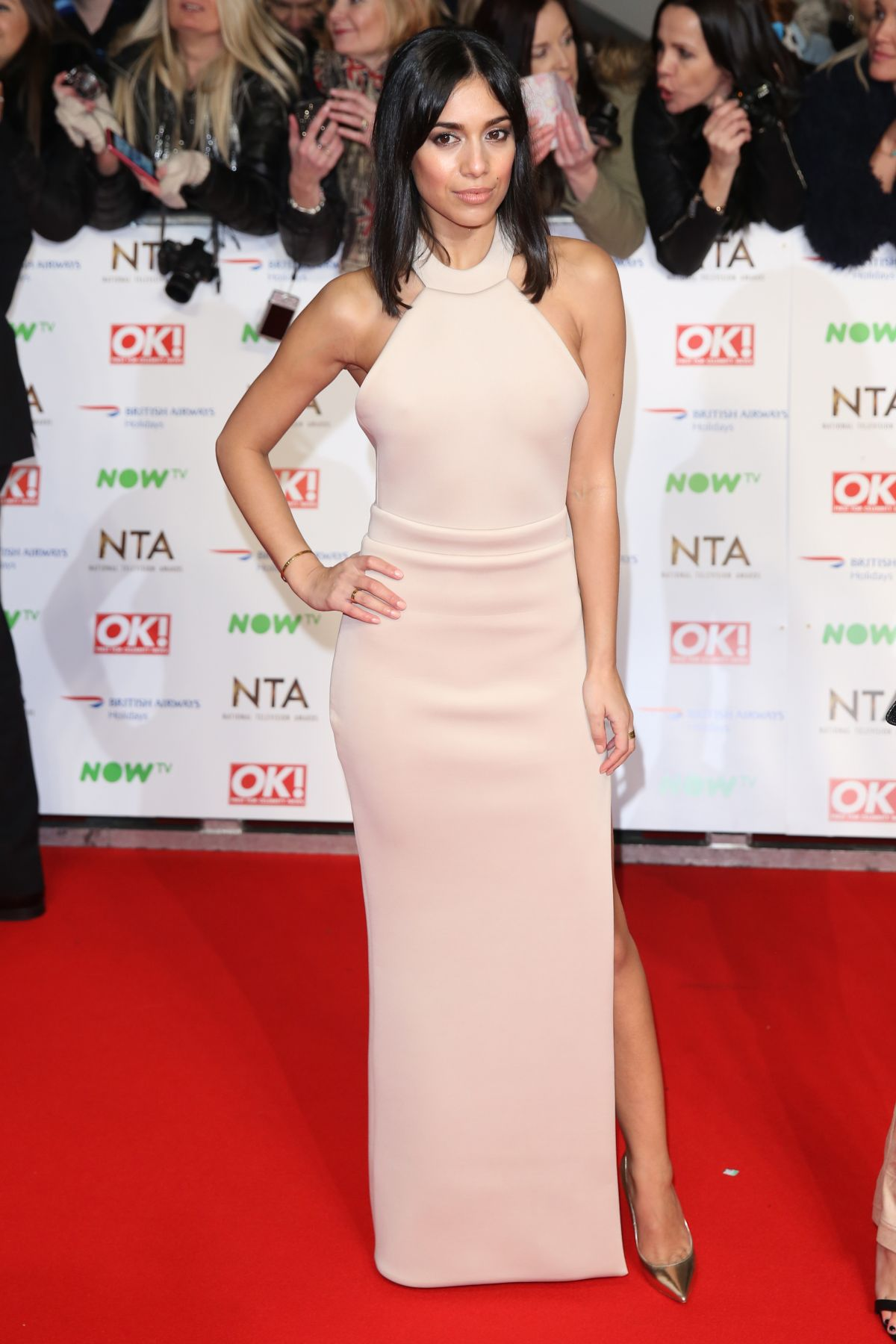 Fiona Wade At Red Carpet National Television Awards