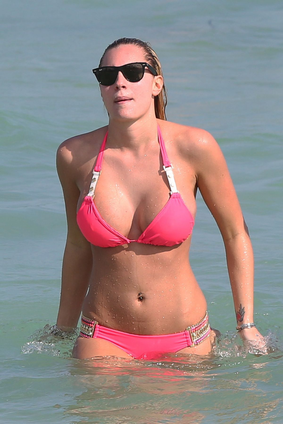 Francesca Brambilla In Bikini On Miami Beach