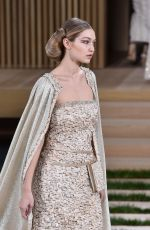 Gigi Hadid At Chanel Haute Couture Spring Summer 2016 Fashion Show In Paris