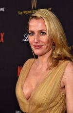 Gillian Anderson At The Weinstein Company & Netflix Golden Globe After Party