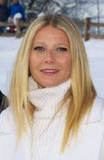 Gwyneth Paltrow Visiting The Audi Driving Experience In Kitzbuehel